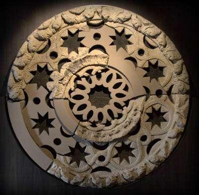 Reconstrucción del rosetón de la fachada del Obradoiro